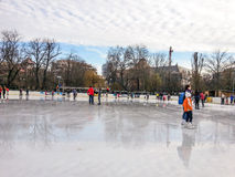 Cismigiu park with modern ice park Royalty Free Stock Image