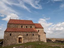 Cisnădioara Fortyfikował kościół Zdjęcia Royalty Free