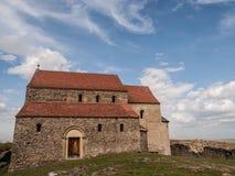 Cisnădioara ha fortificato la chiesa Fotografie Stock Libere da Diritti