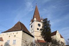 Cisnadie Fortified Church Stock Photography