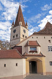 Cisnadie, Romania. Fortified church in Cisnadie, Transylvania, Romania royalty free stock photo