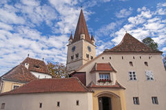 Cisnadie, Romania. Fortified church in Cisnadie, Transylvania, Romania royalty free stock photos