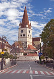 Cisnadie, Romania. Fortified church in Cisnadie, Transylvania, Romania royalty free stock photography