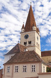 Cisnadie, Romania. Cisnadie, Transylvania, Romania - fortified German evangelical church royalty free stock photos