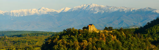 Cisnadioara fortress, transylvania, romania Royalty Free Stock Photography