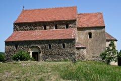 Cisnadioara ha fortificato la chiesa, la Transilvania, Romania Fotografia Stock
