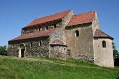Cisnadioara ha fortificato la chiesa, la Transilvania, Romania Fotografia Stock Libera da Diritti