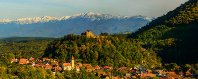 Cisnadioara village in transylvania, romania Stock Photos