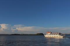 Cisne Branco White Swan Ship. On the Guaiba Estuary in Porto Alegre, Brazil Royalty Free Stock Photography