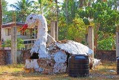 Cisne de la estatuilla después del festival La India Imagen de archivo libre de regalías