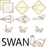 Cisne de la papiroflexia stock de ilustración