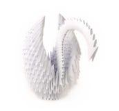 Cisne de Origami Foto de Stock Royalty Free