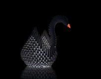 Cisne de Origami Fotografía de archivo