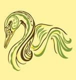 Cisne elegante del tatuaje Imagenes de archivo