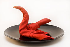 Cisne en la placa Imagen de archivo libre de regalías