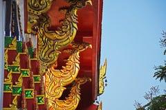 Cisne na arte tailandesa/pintura tailandesa Imagens de Stock
