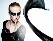 Cisne negro imagen de archivo libre de regalías