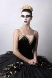 Cisne preta - retrato da bailarina Imagem de Stock