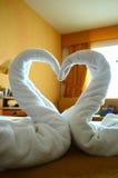 Cisnes de toalha Fotos de Stock Royalty Free