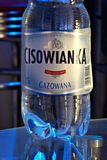 Cisowianka. Warsaw, Poland. May 2016. Plastic bottle with carbonation of mineral water. Cisowianka stock photography