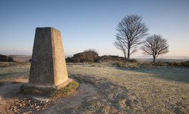 Cissbury Ring Trig Point Royalty Free Stock Image