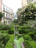 Cister Street -cathedral gardens-Malaga Stock Photo