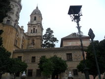 Cister ulica - katedralny Malaga Fotografia Stock