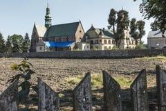 Cisterciënzer abdij en kerk in Wachock stock foto's