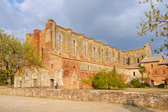 Cistercian修道院-圣Galgano 库存图片