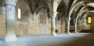 Cistercian. Monastery of Santa Maria de Huerta in Spain Royalty Free Stock Photos