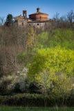 Cistercian abbotskloster av San Galgano nära Chiusdino, Tuscany, Italien Royaltyfria Foton