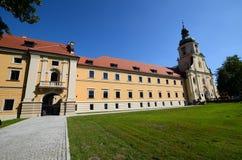 Cistercian abbotskloster i Rudy Arkivfoto