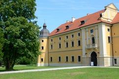 Cistercian abbotskloster i Rudy Arkivbild