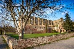 Cistercian Abtei von San Galgano nahe Chiusdino, Toskana, Italien Lizenzfreies Stockbild