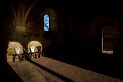 Cistercian Abtei von San Galgano nahe Chiusdino, Toskana, Italien Lizenzfreie Stockbilder