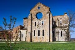 Cistercian Abtei von San Galgano nahe Chiusdino, Toskana, Italien Stockfoto