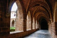 Cistercian cloister. Of Monasterio de Piedra, Spain Stock Images