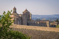 Cistercian Monastery of Santa Maria de Poblet or Monestir de Poblet in the Catalonia region of Spain. Dates from the 1150. The monks make their own wine and Royalty Free Stock Photography