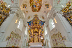 Cistercian Stams修道院在Imst,奥地利 免版税库存照片