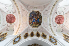 Cistercian Stams修道院在Imst,奥地利 库存照片