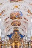 Cistercian Stams修道院在Imst,奥地利 库存图片