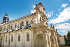 Cistercian state monastery Osek Ossegg front church, Czech Royalty Free Stock Photography