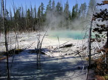 Cisterin Spring in Yellowstone National Park stock photography