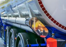 Cistern for combustible materials on wheels Stock Images