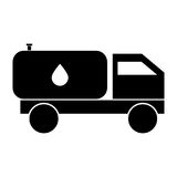 Cistern truck black color icon . Stock Image