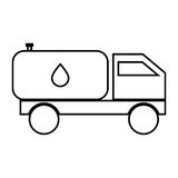 Cistern truck black color icon . Royalty Free Stock Images