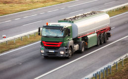 Cistern Truck on highway Royalty Free Stock Photography