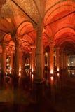Cisterna Costantinopoli Turchia della basilica Fotografia Stock Libera da Diritti