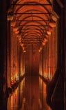 Cisterna Costantinopoli Turchia della basilica Fotografie Stock Libere da Diritti