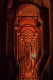 Cisterna Costantinopoli Turchia della basilica Immagini Stock
